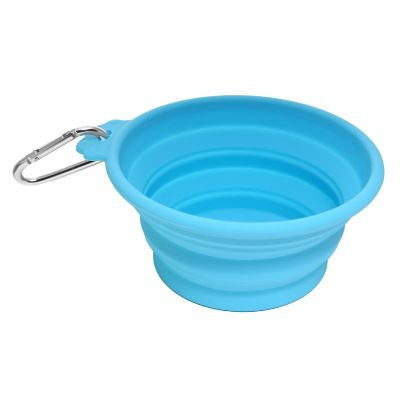 Olly & Max Collapsible Pet Travel Bowl (Blue)